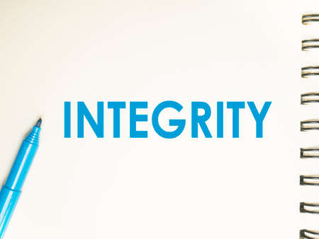 Integrity, business motivational inspirational quotes, words typography lettering concept