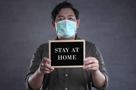 Corona virus, 2019-nCoV OR COVID-19. Novel Coronavirus. Stay at home, physical social distancing. Health care and medical concept 版權商用圖片