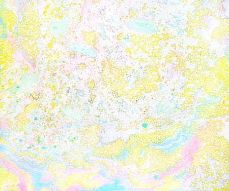 Marbling texture in pale yellow, pink and turquoise colors
