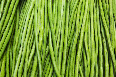 The Texture of yardlong bean in the market photo