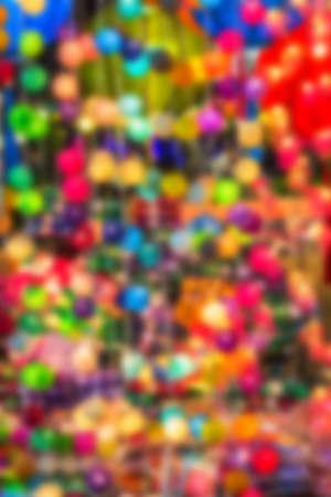 Abstract blur background Decorating Light Balls. photo