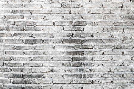 A photo of old white brick wall texture