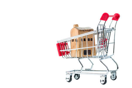 A photo of house model in shopping, Real Estate concept, Selective focus