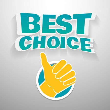 agradecimiento: Palabras 3D mejor opci�n con el icono de la mano. Texto Ilustraci�n para tarjetas de agradecimiento, banners, etc. Vectores