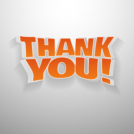 thankyou: 3D words thank you. Illustration text for gratefulness cards, banners, etc.