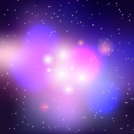 dark nebula: Vector galaxy background, cluster of stars illustration.