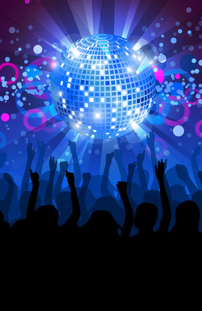 young people party: Dance party flyer, musical background, vector, eps 10