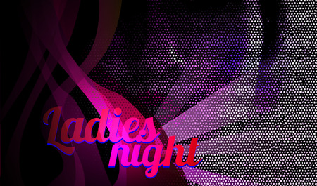 nighttime: Ladies night, dance party flyer vector, eps 10 Illustration