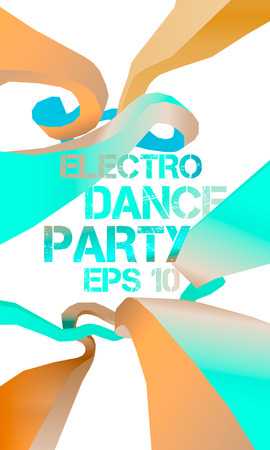 eps 10: Abstract background, electro dance party flyer, vector, eps 10 Illustration