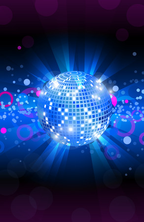 Musical background blue, dance party flyer, vector, eps 10
