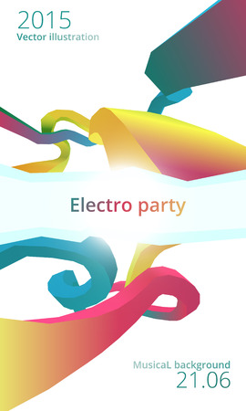 eps 10: Electro dance party flyer, vector, eps 10 Illustration