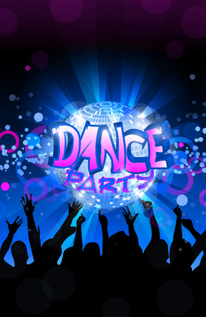 eps 10: Dance party flyer, musical background, vector, eps 10