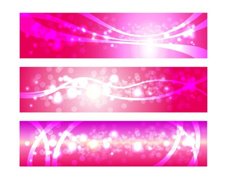 abstrakcje: Set of headers for website. Pink web banners, backgrounds, abstractions. Ilustracja