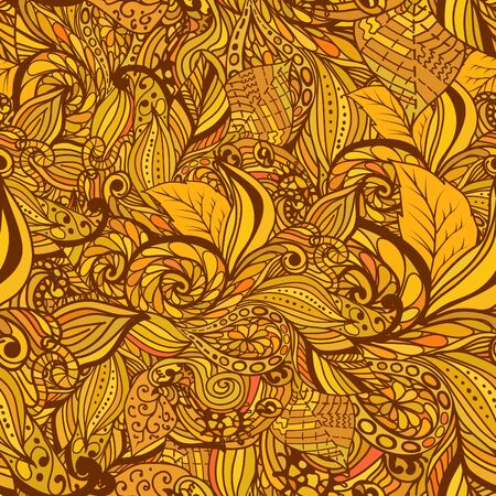 Seamless abstract hand-drawn pattern, waves background. It can be used for wallpaper, pattern fills, web page background, surface textures. Gorgeous seamless background