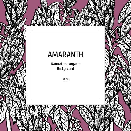 Hand drawn background with amaranth.