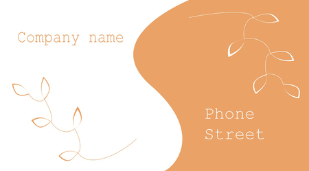 business card with orange leaves