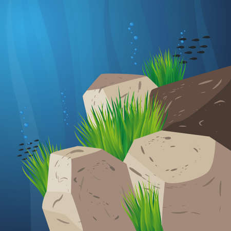 under the sea background Vector