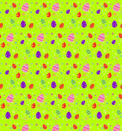 Easter eggs for the holiday, bitmap, pattern, eggs with a pattern, beautiful multi-colored Easter eggs, seamless pattern, white background