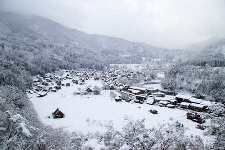 shirakawago: Shirakawago in winter Stock Photo