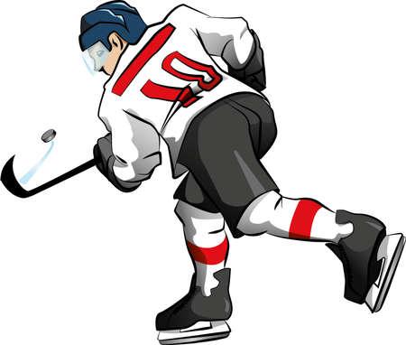 Hockey player who pulls vector