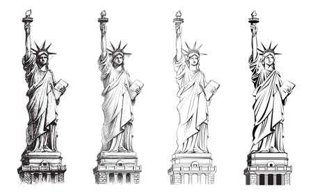 Vrijheidsbeeld Stock Illustratie