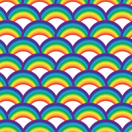 Seamles geometric pattern with colorful rainbows for textile. Raster. Banque d'images