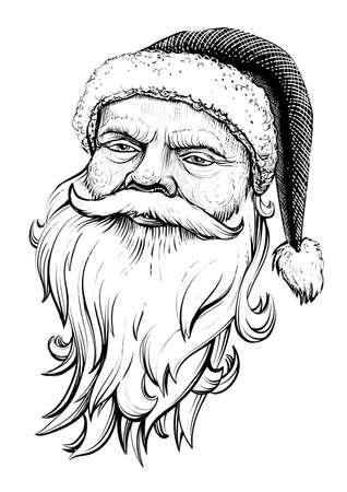 Santa Claus head illustration.