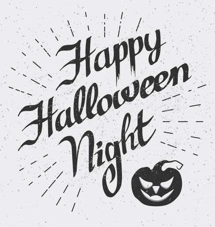 Happy Halloween night banner. Illustration