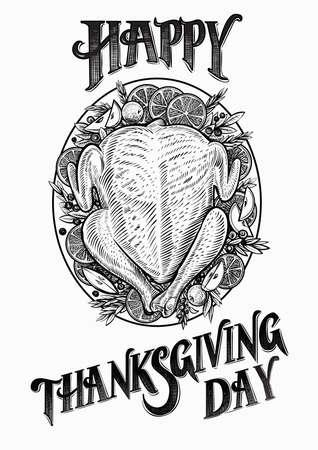Turkey hand drawn vector illustration.