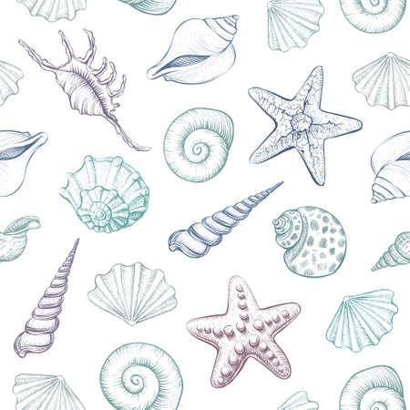 Sea creatures outline image design