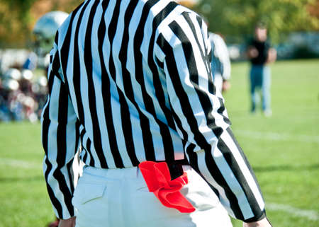 フィールド スポーツ ゲームのための審判 写真素材