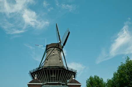 アムステルダムでの最後の風車の 1 つ 写真素材