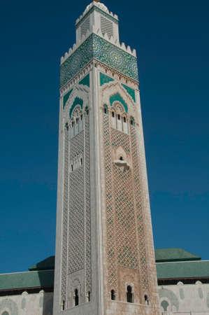 Exterior details of the Hassan II Mosque in Casablanca