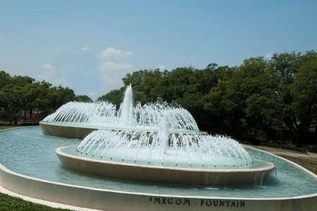 テキサス州ヒューストン、Mecom 噴水の水 写真素材
