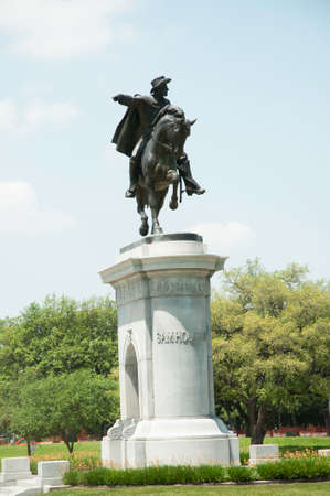 ヒューストン、テキサスのサムヒューストンの像 写真素材