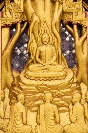 murals: Thai temple murals. Stock Photo
