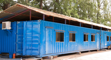 Blue color container office photo