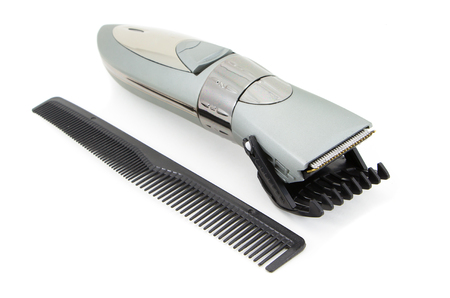 hairclipper: hairclipper in isolated on white Stock Photo