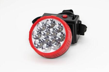 flashlight: Flashlight LED on isolated Stock Photo