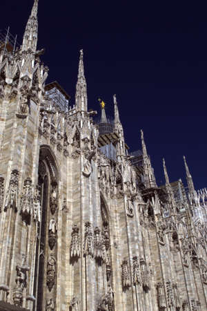 Detail of the cathedral of Milano - The Dome - Italy photo