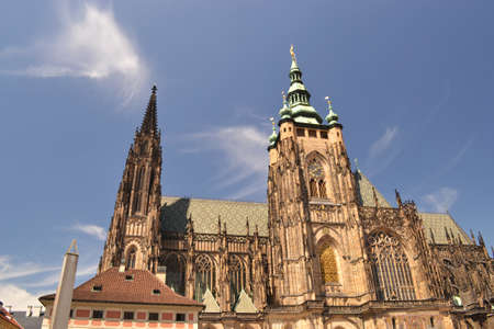 archtecture: Basilica of Prague -Czech Republic - Europe Stock Photo