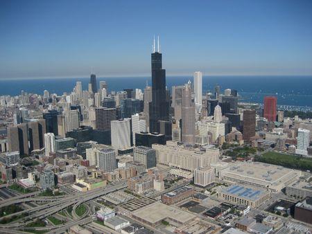 sprawl: chicago skyline Stock Photo