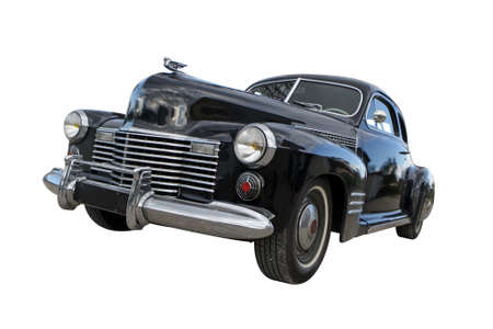 Vintage car from the 1940s, isolated on a white background