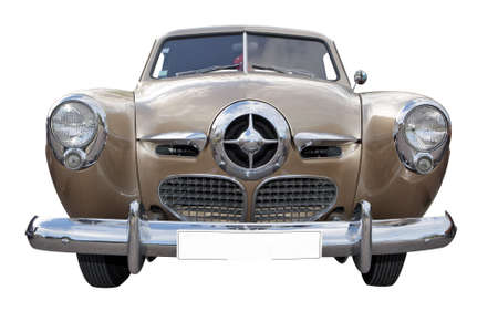 Vintage American car from the 1950s isolated on white background Banque d'images