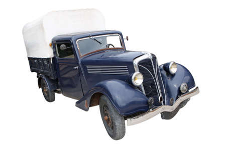 Vintage 1930 style car isolated on white background Éditoriale