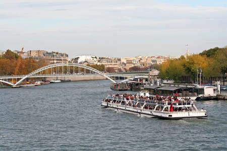 Tourist boat on the Seine in Paris