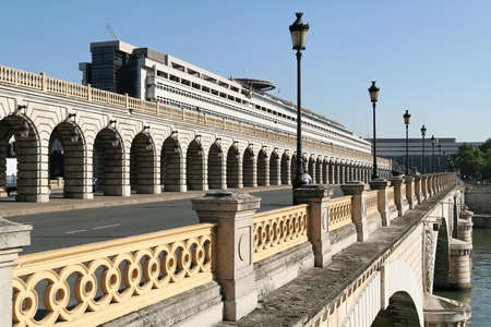 Bridge over the Seine river in Paris, France