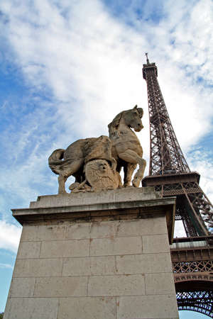 Paris in France, Eiffel tower is a traditional monument of the capital.
