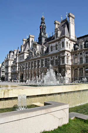 Paris city hall, town hall of the capital in France