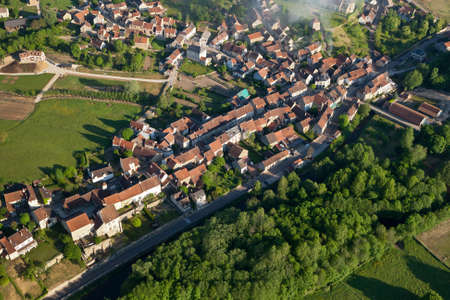 Aerial photograph of Asquins 89450, in Yonne department, Bourgogne-Franche-comte region, France